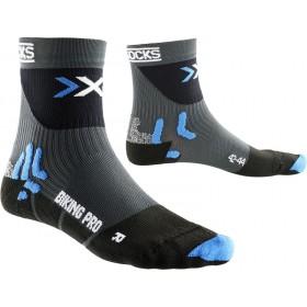 X-Socks biking pro chaussettes gris noir