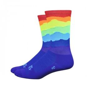 "DEFEET Sock Ridge Supply Aireator 6"" Rainbow"