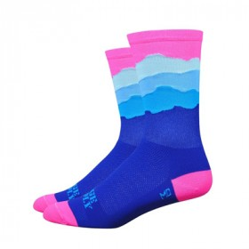 "DEFEET Sock Ridge Supply Aireator 6"" Skyline Neon Pink"