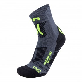UYN cycling mtb chaussettes de cyclisme anthracite fluo jaune