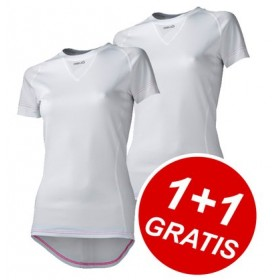 AGU Secco Lady Shirt KM White 1+1 Gratis