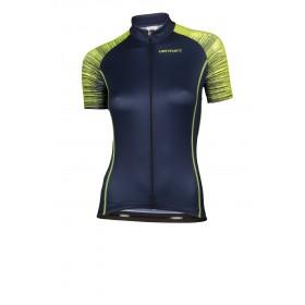 Vermarc seiso sp.l aero maillot de cyclisme manches courtes femme navy bleu fluo jaune