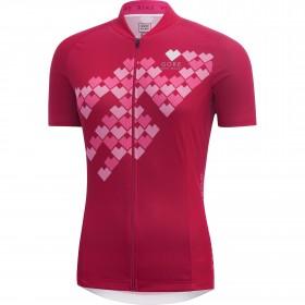 GORE BIKE WEAR E Digi Heart Lady Jersey SS Jazzy Pink