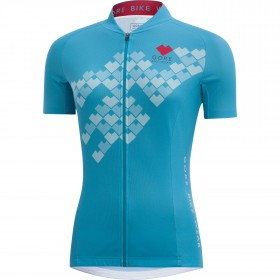 GORE BIKE WEAR E Digi Heart Lady Jersey SS Scuba Blue