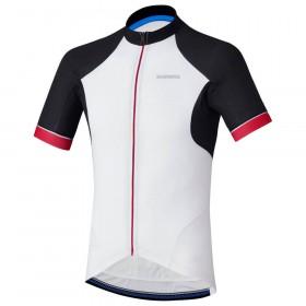 Shimano escape maillot de cyclisme manches courtes blanc