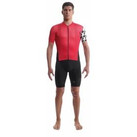 Assos campionissimo equipe evo 8 maillot de cyclisme manches courtes national rouge