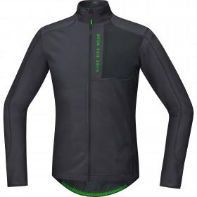 Gore bike wear power trail thermo maillot de cyclisme manches longues brun noir
