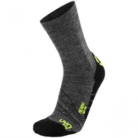 UYN cycling merino chaussettes de cyclisme anthracite fluo jaune