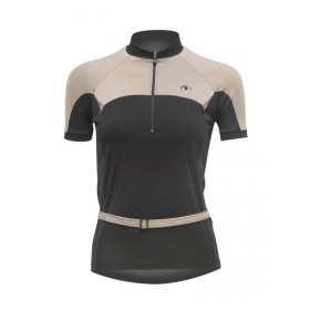 ULTIMA INDOOR Shirt Km Lady Zwart Fruitgrijs