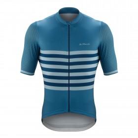 De Marchi veloce maillot de cyclisme manches courtes savoy bleu