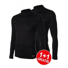 Shirt Windbreaker Essentials LM Black 1+1 Gratis