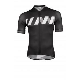 Vermarc winn summer maillot de cyclisme manches courtes noir blanc