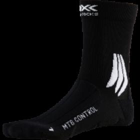 X-Socks mtb control chaussettes de cyclisme opal noir arctic blanc