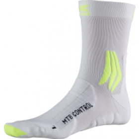 X-Socks mtb control chaussettes de cyclisme arctic blanc phyton jaune