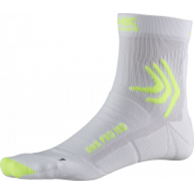 X-Socks bike pro mid chaussettes de cyclisme arctic blanc phyton jaune