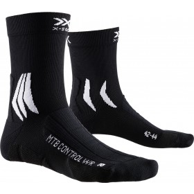 X-Socks mtb control wr chaussettes de cyclisme noir blanc