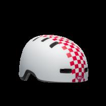 Bell lil ripper kinder fietshelm mat wit roze checkers